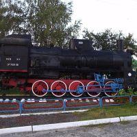 Поезд-памятник рядом с ж/д станцией, Ковылкино