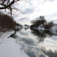 Река Протва зимой, Протвино