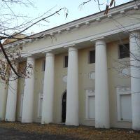 Один из боковых корпусов (предположительно, оранжерея, 1802) усадьбы Пехра-Яковлевская, выполненный в стиле ампир..., Балашиха