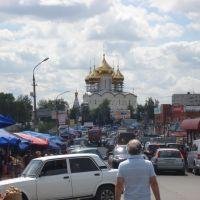 Вид на Церковь Преображения Господня, Быково