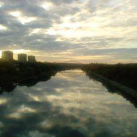 Облака в Москва-реке, Воскресенск