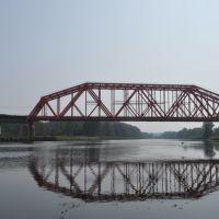 Вид на мост с берега канала, Деденево