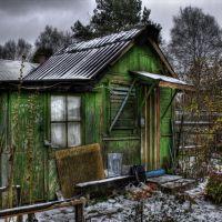 Садовый домик (первый снег 2009), Дедовск