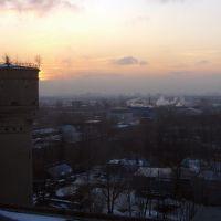 Meeting sunset in KPM-building, Долгопрудный