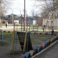 Boys playing in Drezna, Дрезна