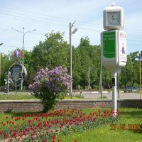 Перекрёсток на Дачной/Dubna , city clock., Дубна