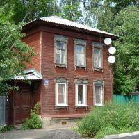 Деревянный дом, сохранились старые наличники., Егорьевск