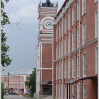 Егорьевск. Башня с часами бывшей фабрики братьев Хлудовых. 07.2013., Егорьевск