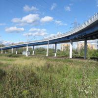 Автомобильный мост около д. Сергеевки, Железнодорожный