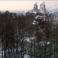 Зимняя панорама Красногорска из Дома Правительства Московской области / Winter panorama of Krasnohorsk from the House of Moscow Region Government, Загорск