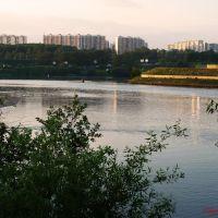 Вечер на Москве реке. Павшинская пойма., Загорск