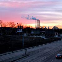 Утро в районе Трикотажке., Загорск