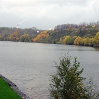 "Вид на Москва-реку и район ""Митино"" / View of the Moskva river and Mitino district of Moscow city (21/10/2007), Загорск"