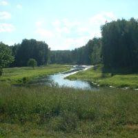 Вид на Клязьму со склона, Загорянский