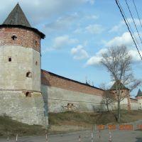 Тайницкая(ближняя),Спасская проездная,Наугольная(вдали)башни., Зарайск