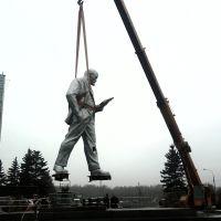 Снос памятника  Ленина, Зеленоград