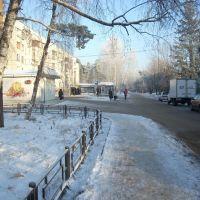 улица Октябрьская, у почты 140121(справа(не видна)), Ильинский