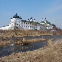 Троицкий Белопесоцкий монастырь. Вид с юго-запада, Кашира