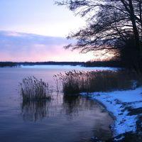 Зимние сумерки на озере, Керва