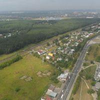 ::Станция Весенняя с воздуха::, Климовск