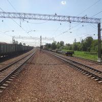 Станция Толстопальцево, Вид в сторону ст. Крёкшино, Кокошкино