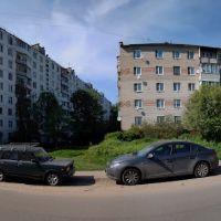 панорама конца улийы Дачная. Дома 3 и 5., Кокошкино