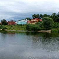 у берега реки, Коломна