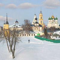 пано кремля с крепостной стены, Коломна