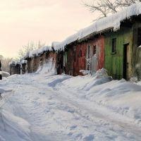 Разноцветные гаражи в Красково, Красково