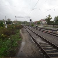Станция Красноармейск. Вид на восток, Красноармейск