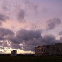 Sunset sky in Krasnozavodsk, Краснозаводск