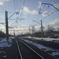 Станция Холщевики. 69 км от Москвы. 27 марта 2011., Красный Ткач