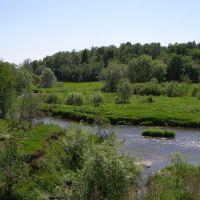 Река Лопасня. Вид смоста., Крюково