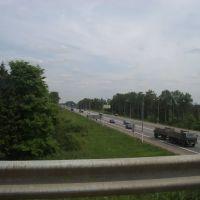 Вид с моста на Минское шоссе (View from the bridge to the Minsk highway), Кубинка