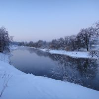 Река Клязьма в деревне Новинки, Лосино-Петровский
