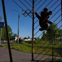 Олимпийский мишка в Лотошино., Лотошино