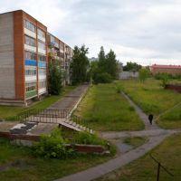 Вид на дом ул.Тимирязева д.7 и Школу №1 из дома по ул.Первомайской д.16а, Луховицы