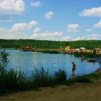 Подмосковная Швейцария, пляж на карьере в Лыткарино, Московской обл., Russia., Лыткарино