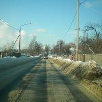 Lytkarino, Moskova Oblastı, Snowy road, Лыткарино