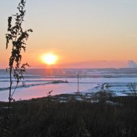 Закат зимний, Лыткарино