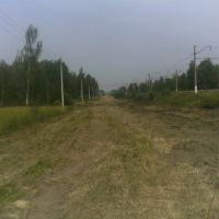 Вид в сторону станции Львовская. После прохода грейдера - август 2010, Львовский