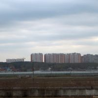 Теплицы на фоне жилых кварталов, Люберцы