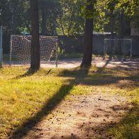 Футбольная площадка на территории школы 48, Малаховка