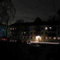 Двор в п.КСЗ_ночь, Малаховка