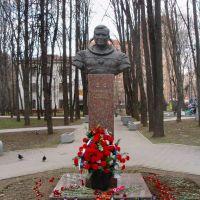Monument to cosmonaut Gennadi Strekalov, Мытищи