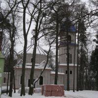 Строящийся храм святого Даниила Московского / Temple of St. Daniel of Moscow Being Built, Нахабино