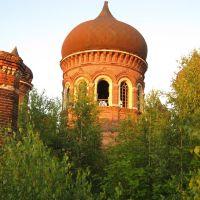 Церковь Троицы Живоначальной. Вид с крыши, Некрасовка
