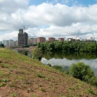 Вид на Москва-реку и новостройки Красногорска / View of the Moscow River and the new buildings of Krasnogorsk (29/08/2009), Новоподрезково