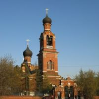 Church near Trikotazhnaia station, Новоподрезково