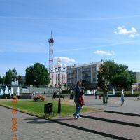 Noginsk Fountain Square in June of 2007 - Фонтанная Площадь в Ногинске в июне 2007, Ногинск